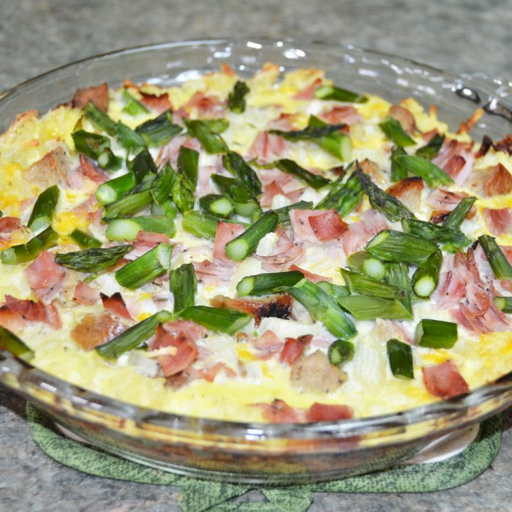 Asparagus Meat Potato Quiche