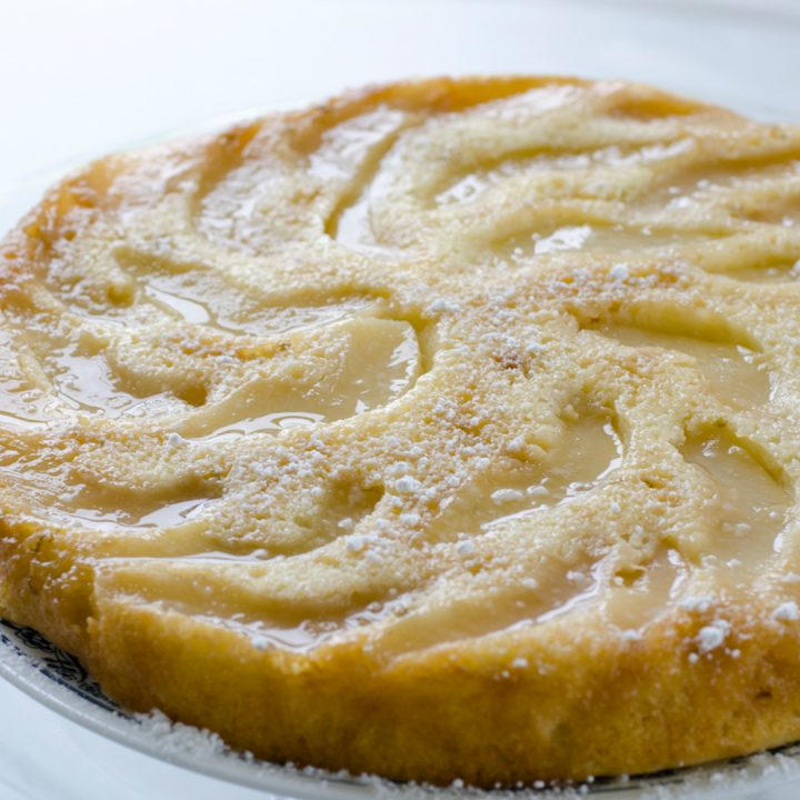 Ginger–Pear Upside–Down Cake