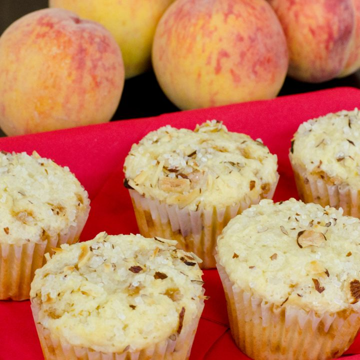 Peachy Yogurt Muffins